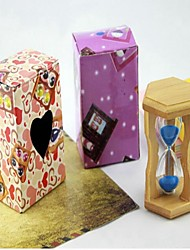 Wooden Frame 1 Minute Sandglass Timer Hourglass Sandy Clock Home Decorations