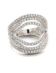 hite zircon ring Plating Platinum