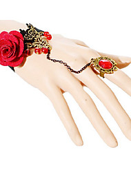 boximiya Frauen heiße rote Rosen sexy Spitze Armbänder