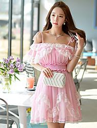 Pink Doll®Women's Beach/Casual/Lace Sleeveless Dress