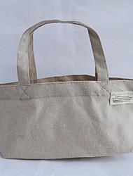 bolso de hombro de la mujer linda algodón y lino de compras del bolso de mano