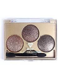 Bright 3 Colors Professional Dazzling Roast Eye Shadow Powder Metallic Shimmer Model8