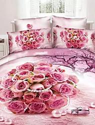 3D Printed Bedding Sets 4pcs Comforter Sets Queen Size Duvet Cover Bed Sheet