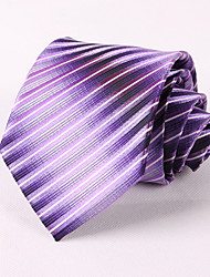 Purple Gradient Striped Tie