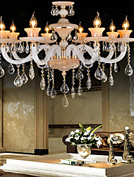 Lustre - Contemporain - avec Cristal/Ampoule incluse - Verre