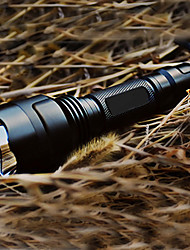 LED Flashlights/Torch Handheld Flashlights/Torch LED 200 Lumens 5 Mode Cree XR-E Q5 18650 Rechargeable Tactical Camping/Hiking/Caving