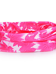 HLY-P836 Maple Leaves Pattern Outdoor Multifunctional Seamless Headscarf - Red + White