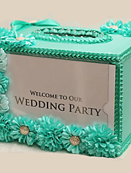 Wedding Gift Card Box for Party Baby Shower & Birthday with Ribbon Flower(35*25*25cm)
