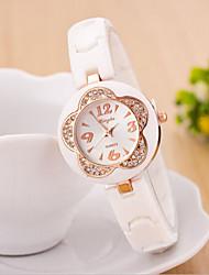 женские круглый циферблат кейс пластик смотреть бренда моды кварцевые часы (шаг Выгода цвета способны)