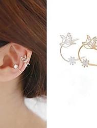 Brinco Punhos da orelha Jóias 1pç Pedras dos signos Casamento / Diário / Casual Liga Feminino Dourado / Prateado
