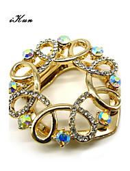 Maikun Scarf Ring Birthday Gift Circled Ribbon Shape Scarf Ring Scarf Clip Brooch Pin