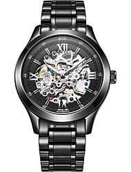 BOS мужская роскошная деталь набрать механического движения браслет часы