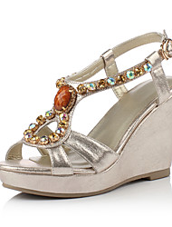 Women's Shoes Wedge Heel Wedges/Slingback Sandals Dress Gold