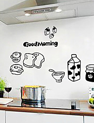 Bread and Milk Kitchen Refrigerator Living Room Bedroom Decorative Wall Stickers Home Decor