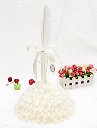 Elegant Champagne Feather Cake Shape Guest Pen Set(Pen & Pen Holder) Sign In Book