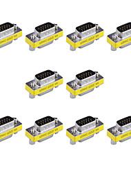15 pinos macho para vga vga femininos mini-placas de trocador de gênero (10 pcs)