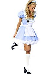 Costumes de Cosplay Costume de Soirée Princesse Conte de Fée Fête / Célébration Déguisement d'Halloween Bleu Mosaïque RobeHalloween