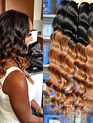 "4Pcs/Lot 8""-24"" Brazilian Virgin Hair,Mix Color 1b/27 ,Loose Wave, Factory Wholesales Unprocessed Human Hair Weaves."