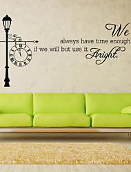 stickers muraux de style mur de décalcomanies, nous avons des mots anglais de temps&cite muraux PVC autocollants