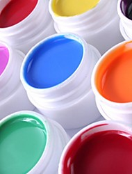 36PCS  Mixs Pure Color UV Color Gel for Manicure Nails Tips