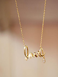 May  Polly  Short paragraph LOVE letter necklace