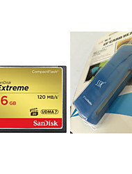SanDisk CompactFlash 16GB CFXSB 120M/S High Speed Camera Memory Card And CF Card Reader