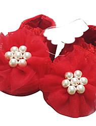 Baby Calçados - Sapatilhas - Vermelho - Cetim / Seda / Gliter - Casamento / Social / Casual