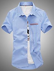 Men's Short Sleeve Cotton Casual Pure