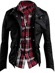H2O Men's Casual Stand Long Sleeve Coats & Jackets