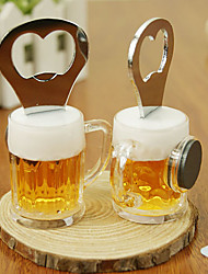 2 in 1 Stainless Steel Beer Shaped Bottle Opener Fridge Memo Magnet