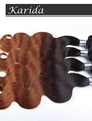 4 pcs / lot ombre vague de corps de cheveux Vente en gros cheveux péruvien, cheveux péruvien vierge crus, non transformés