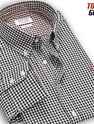 mode casual shirts slim 100% coton à manches longues à carreaux camisa hommes chemise 6 couleurs 30021 SML XL XXL