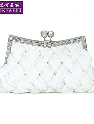 Women's Bag Fashion Silk Weave Evening Bag Luxury Diamante Mini Clutch Bag Shoulder Bag Pride Bags