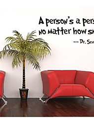 A Person's a Person, No Matter How Small Quote Wall Decal Zooyoo8077 Decorative  Removable Vinyl Wall Sticker