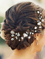 Women's Imitation Pearl Headpiece - Wedding / Special Occasion Hair Pin 6 Pieces