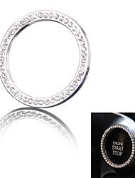 un-chiave di avviamento del motore / stop chrome anello decorazione di strass (colori assortiti)