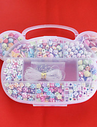 beadia acrílico Beads DIY cores sortidas e forma na caixa plástica crianças brinquedo dom ajuste colar de jóias pulseira