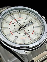 NAVIFORCE® Men's Full Steel Dress Quartz Wristwatches 30M Water Resistant Sports Military Clock Man