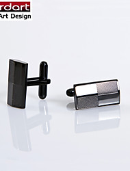 IP Black 316L Stainless Steel Cuff Link with Laser Engraving for Men