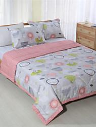 patchwork quilt king size colchas artesanais geométrica de verão para meninas rosa 100% algodão