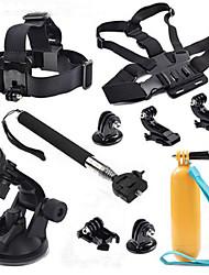 Kit 10-en-1 accessoires pour appareils photo de sport pour GoPro Hero 4/3/3 + / sj4000 / sj5000 / sjcam / xiaoyi