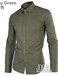 корейский тонкий подходят длинный рукав блузки дизайнера&Футболки 2015 весной мужские рубашки Роскошные платья XXXL повседневная