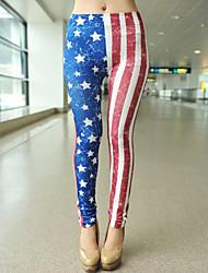 Women Print Legging , Cotton Blends/Polyester Thin