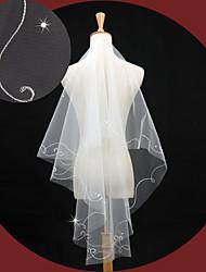 Wedding Veil One-tier Elbow Veils Applique Edge