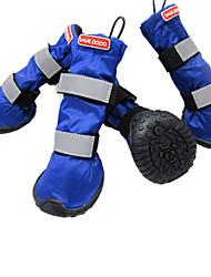 Dog Socks & Boots Red / Blue Winter Waterproof