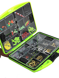 Lure kits Fishing Tackle Box Lure Box#*2.5 Metal Plastic