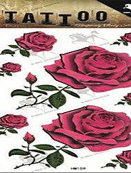 1 - Séries de fleur - Multicolore - Motif - 21 - Tatouages Autocollants - Love2sis - Homme