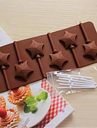 ustensiles de cuisson en forme d'étoile de silicone moules de cuisson pour sucette au chocolat