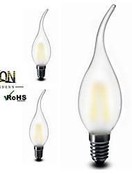 3 stuks ONDENN E12 2 COB 200 LM Warm wit CA35 edison Vintage LED-gloeilampen AC 110-130 V