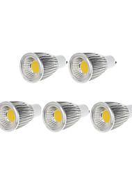 9W GU10 Spot LED MR16 1 COB 750-800 lm Blanc Chaud / Blanc Froid Gradable AC 100-240 / AC 110-130 V 5 pièces